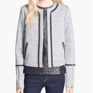 ELIZABETH AND JAMES Jacket Blazer Zip Up Gray S